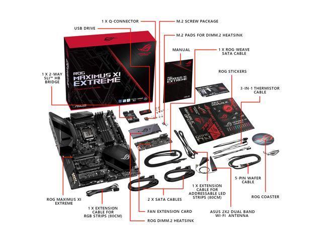 ASUS ROG Maximus XI Extreme LGA 1151 (300 Series) Intel Z390 HDMI SATA  6Gb/s USB 3 1 Extended ATX Intel Motherboard - Newegg com