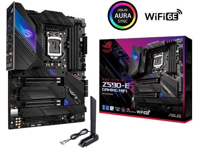 ASUS ROG STRIX Z590-E GAMING WIFI LGA 1200 Intel Z590 SATA 6Gb/s ATX Intel Motherboard