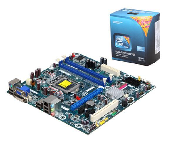 Intel BX80616I5660-KIT6 Intel Core i5-660 3 33GHz LGA1156 Intel H55 Micro  ATX Motherboard/CPU Combo - Newegg com