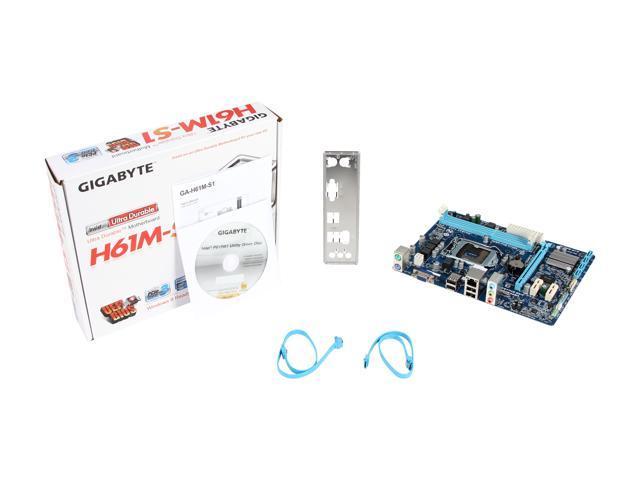 Used - Very Good: GIGABYTE GA-H61M-S1 LGA 1155 Micro ATX Intel Motherboard  - Newegg com