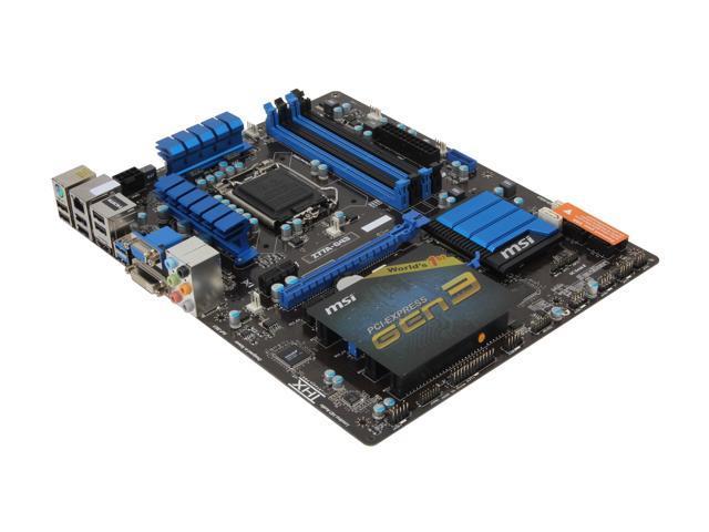 MSI Z77A-G43 LGA 1155 ATX Intel Motherboard with UEFI BIOS - Newegg com