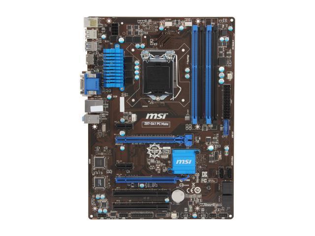 Used - Very Good: MSI Z87-G41 PC Mate LGA 1150 ATX High Performance CF  Intel Motherboard - Newegg com