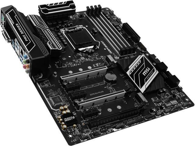 MSI Z270 SLI PLUS LGA 1151 ATX Intel Motherboard - Newegg com
