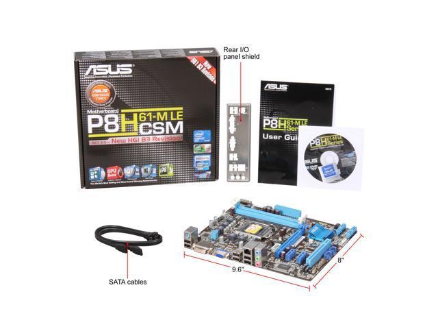 Used - Very Good: ASUS P8H61-M LE/CSM (REV 3 0) LGA 1155 Micro ATX Intel  Motherboard - Newegg com