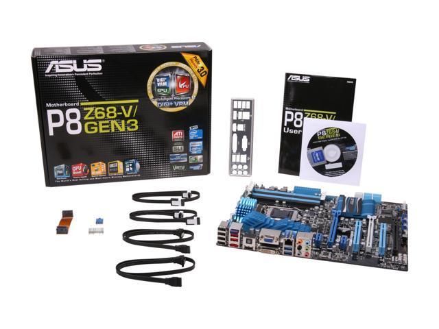 ASUS P8Z68-V/GEN3 Intel Motherboard - Newegg com