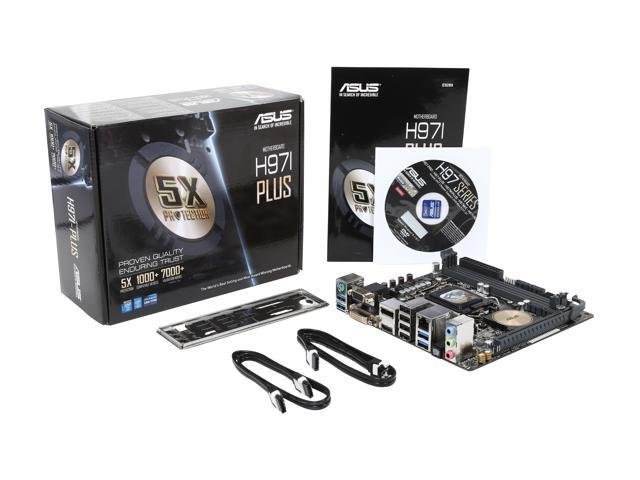 ASUS H97I-PLUS LGA 1150 Intel H97 HDMI SATA 6Gb/s USB 3.0 Mini ITX Intel Motherboard