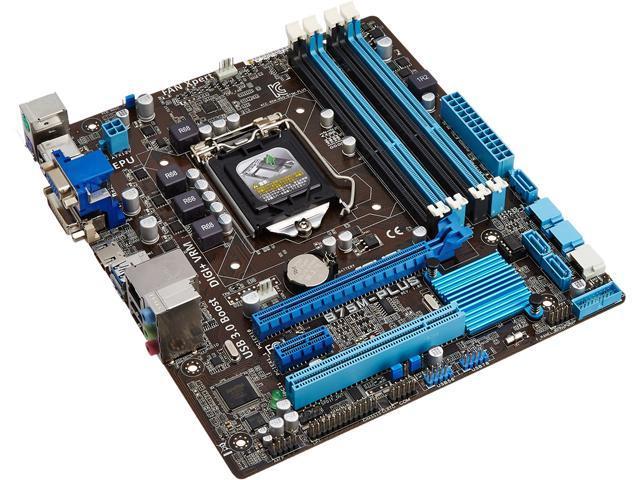 Original ASUS B75M-A Intel B75 Motherboard LGA 1155//Socket H2 DDR3