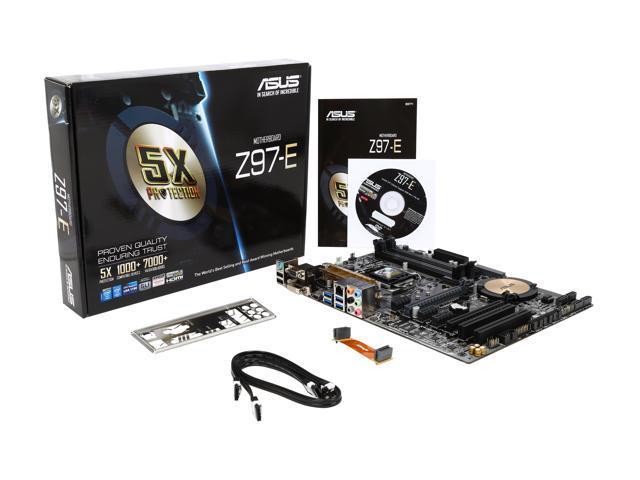 Used - Like New: ASUS Z97-E LGA 1150 ATX Intel Motherboard - Newegg com