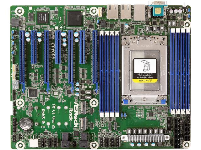 Asrock Rack Server Motherboard EPYCD8 EPYC 7000 Series DDR4 M 2 - Newegg com