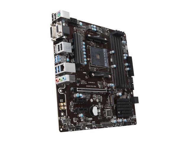 MSI B350M PRO-VDH AM4 Micro ATX AMD Motherboard - Newegg com