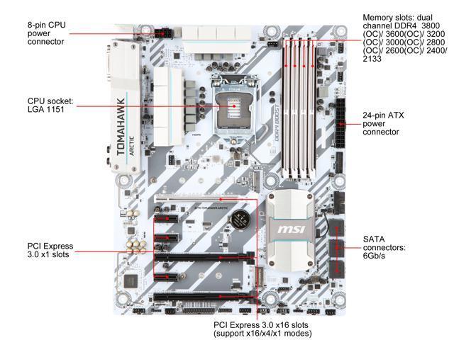Refurbished: MSI Z270 TOMAHAWK ARCTIC LGA 1151 ATX Intel