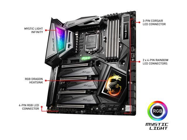 MSI MEG Z390 GODLIKE LGA 1151 (300 Series) Extended ATX Intel Motherboard -  Newegg com