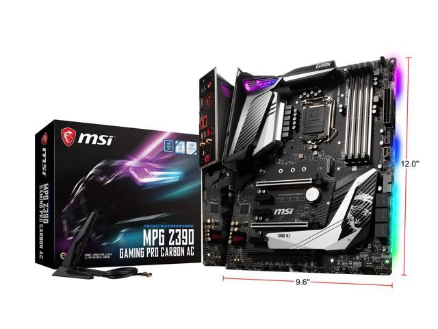 MSI MPG Z390 GAMING PRO CARBON AC LGA 1151 (300 Series) ATX Intel  Motherboard - Newegg com