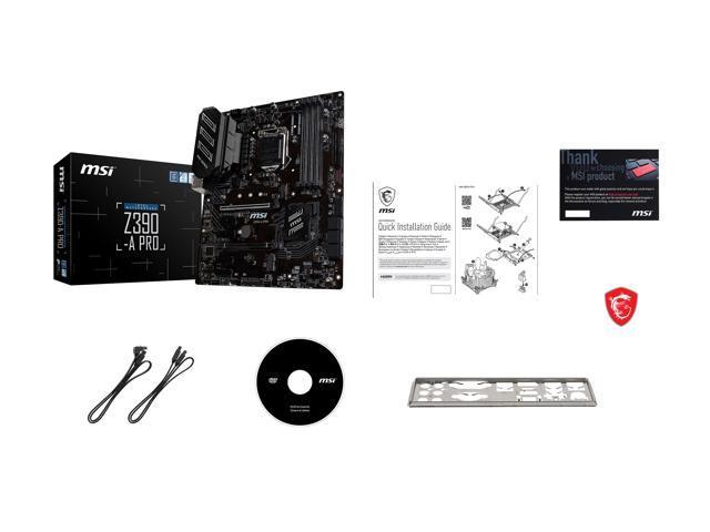 MSI PRO Z390-A PRO LGA 1151 (300 Series) ATX Intel Motherboard - Newegg com