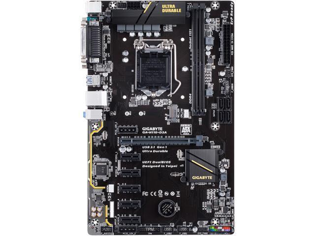 Gigabyte MB GA-H110-D3A S1151 H110 DDR4 2133 SATA 6Gb s ATX Retail -  Newegg com