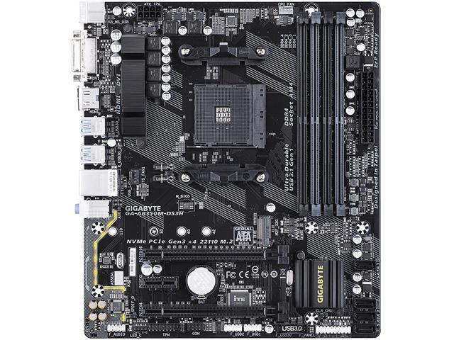 GIGABYTE AB350M-DS3H AM4 AMD B350 SATA 6Gb/s USB 3 1 HDMI Micro ATX