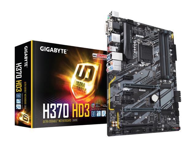 GIGABYTE H370 HD3 LGA 1151 (300 Series) ATX Intel Motherboard - Newegg com