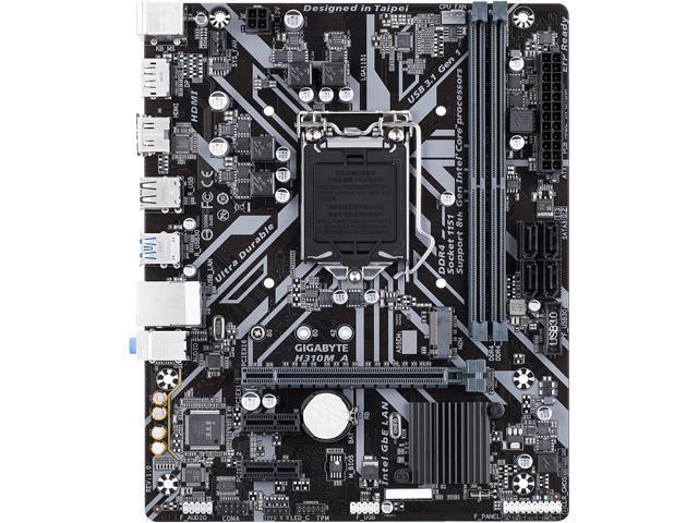 GIGABYTE H310M A LGA 1151 (300 Series) Micro ATX Intel Motherboard -  Newegg com