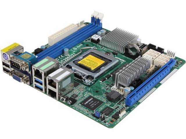 Open Box: ASRock E3C226D2I Mini ITX Server Motherboard - Newegg com