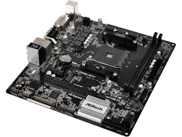 ASRock A320M-HDV AM4 Micro ATX AMD Motherboard - Newegg com