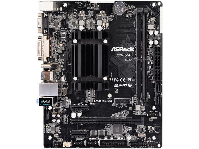 ASRock J4105M Intel Celeron Quad-Core Processor J4105 (up to 2 5 GHz) Micro  ATX Motherboard/CPU Combo - Newegg com