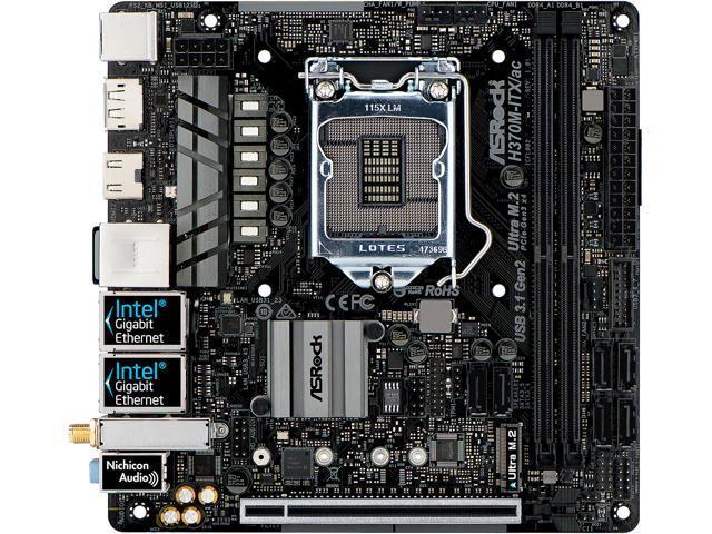 ASRock H370M-ITX//AC LGA1151//Intel Motherboard