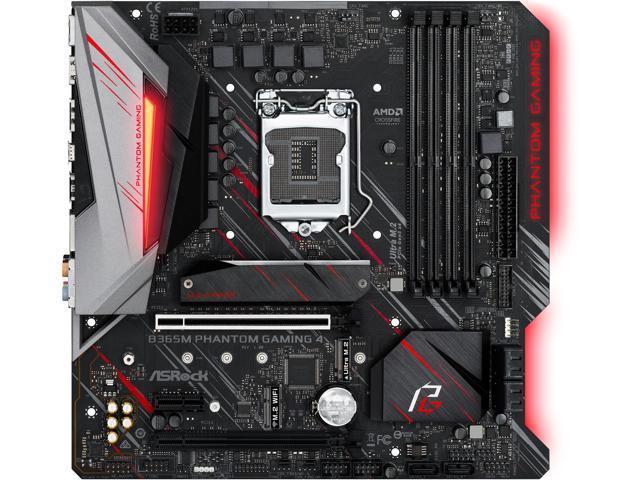 ASRock B365M Phantom Gaming 4 LGA 1151 (300 Series) Micro ATX Intel  Motherboard - Newegg com