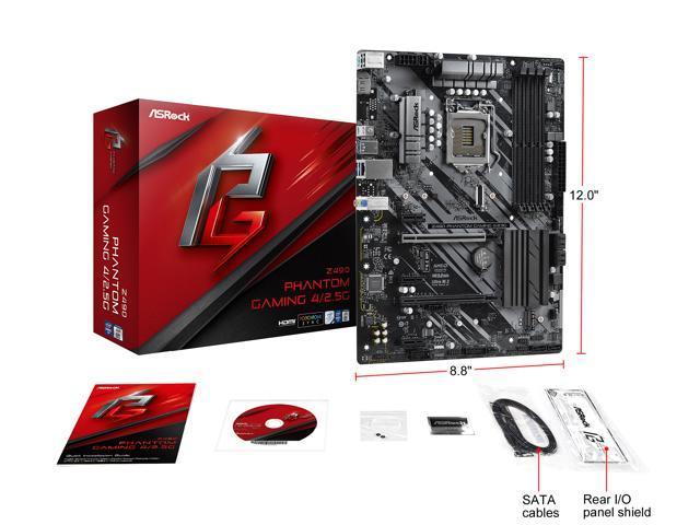 ASRock Z490 Phantom Gaming 4/2.5G LGA 1200 ATX Intel ...