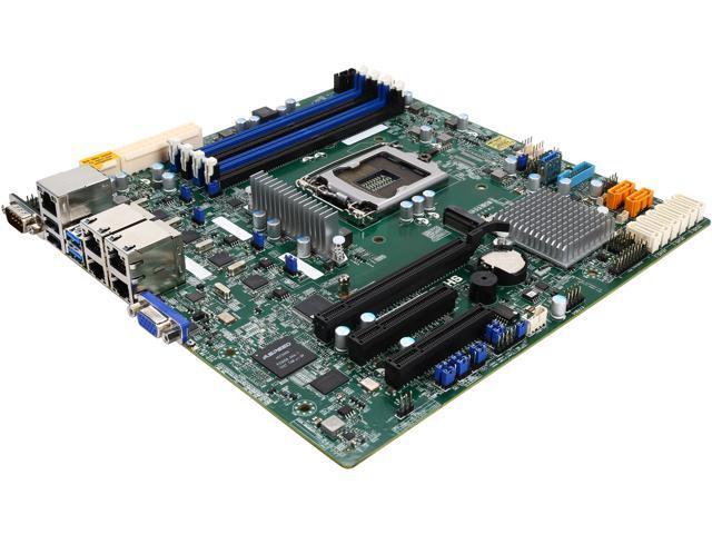 SUPERMICRO MBD-X11SSH-LN4F-O Micro ATX Server Motherboard - Newegg com