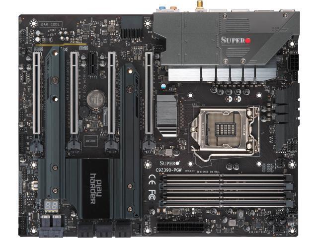 SUPERMICRO SuperO MBD-C9Z390-PGW-O LGA 1151 (300 Series) ATX Intel  Motherboard - Newegg com