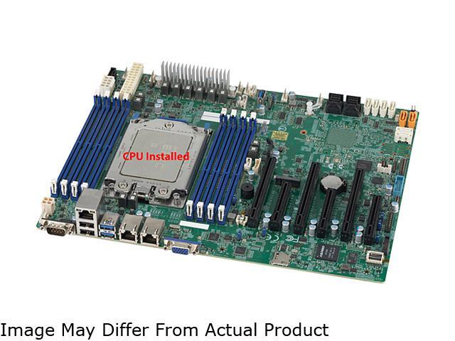 Supermicro Mbdh11ssl I W Amd Epyc 7351p 16 Core Cpu Installed Ddr4 Atx Server Motherboard Newegg Com