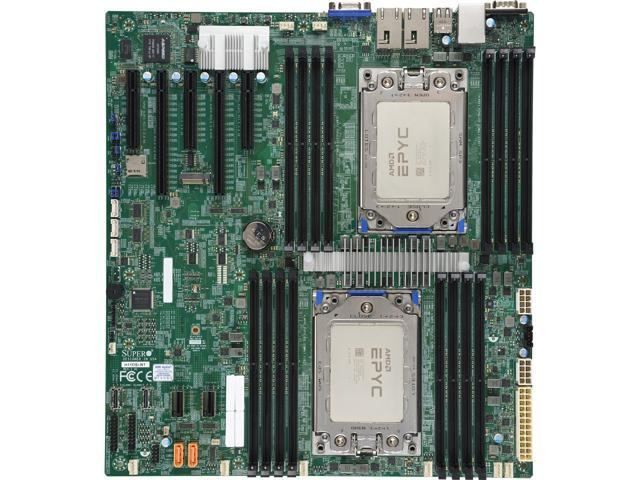 Supermicro Mbd H11dsi Nt Mainboard Factory Installed With 2 X Amd Epyc Rome 64 Cores 7702 Cpu Newegg Com