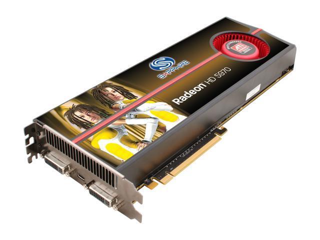SAPPHIRE Radeon HD 5970 (Hemlock) DirectX 11 100280OCSR Dual GPU Onboard  CrossFire Video Card w/ Eyefinity - Newegg ca