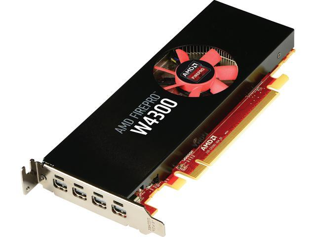 AMD FirePro W4300 100-505973 4GB 128-bit GDDR5 PCI Express 3 0 x16  Low-profile design fits SFF and full-size ATX chassis Workstation Video  Card -