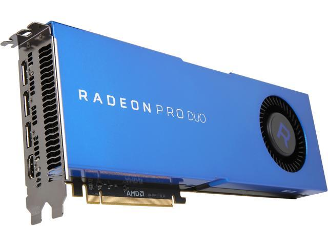 Radeon Pro Duo 100-506048 32GB (16GB per GPU) GDDR5 CrossFire Supported  Full-Height/Full-Length Workstation Video Card - Newegg com