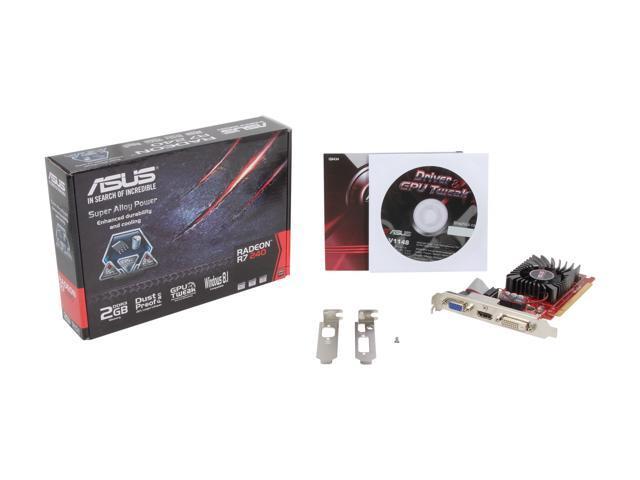 ASUS Radeon R7 240 DirectX 11 2 R7240-2GD3-L Video Card - Newegg com
