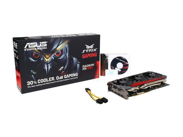 ASUS Radeon R9 390 DirectX 12 STRIX-R9390-DC3OC-8GD5-GAMING