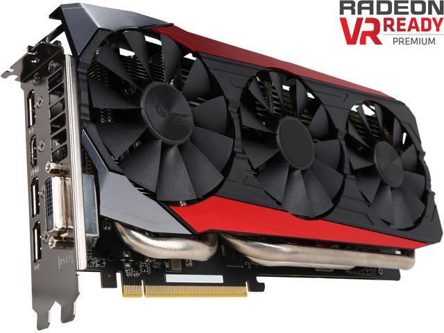 ASUS Radeon R9 390 DirectX 12 STRIX-R9390-DC3OC-8GD5-GAMING Video Card -  Newegg com