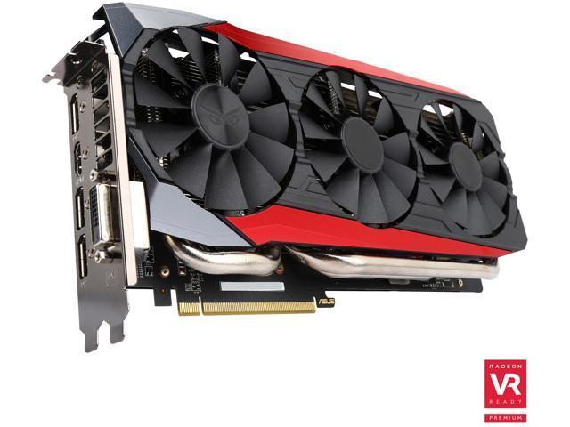 ASUS Radeon R9 Fury STRIX-R9FURY-DC3-4G-GAMING Video Card - Newegg com