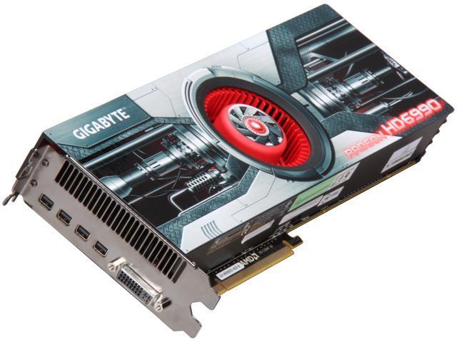 GIGABYTE Radeon HD 6990 DirectX 11 GV-R699D5-4GD-B 4GB 256-Bit GDDR5 PCI  Express 2 1 x16 HDCP Ready Video Card with Eyefinity - Newegg com