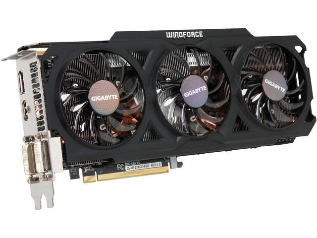 GIGABYTE Radeon R9 270X GV-R927XOC-4GD 4GB 256-Bit GDDR5 PCI