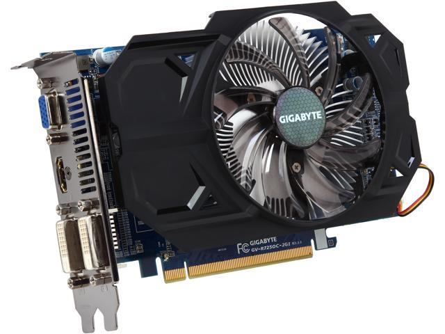 GIGABYTE Radeon R7 250 DirectX 11 1 GV-R725OC-2GI REV3 0 Video Card -  Newegg com