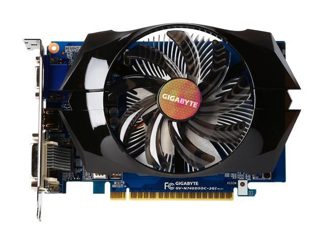 GIGABYTE GeForce GT 740 2GB 100mm FAN OC EDITION - Newegg com