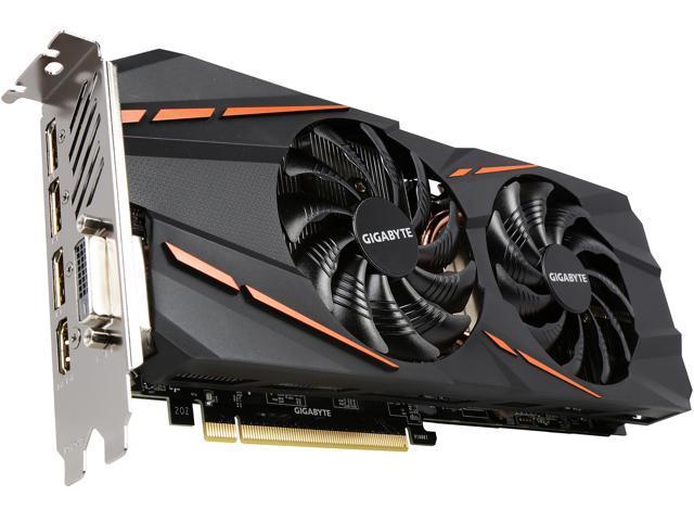 GIGABYTE GeForce GTX 1060 DirectX 12 GV-N1060G1 GAMING-6GD REV 2 0 6GB  192-Bit GDDR5 PCI Express 3 0 x16 ATX Video Card