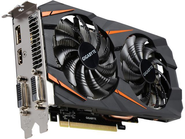 GIGABYTE GeForce GTX 1060 DirectX 12 GV-N1060WF2OC-6GD 6GB 192-Bit GDDR5 PCI Express 3.0 x16 ATX Video Card
