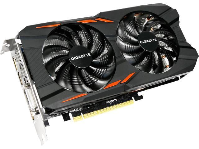 GIGABYTE GeForce GTX 1050 Ti DirectX 12 GV-N105TWF2OC-4GD Video Card -  Newegg com