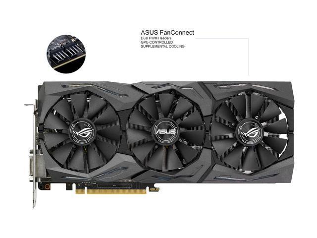 ASUS ROG GeForce GTX 1070 STRIX-GTX1070-O8G-GAMING Video Card with RGB  Lighting - Newegg com