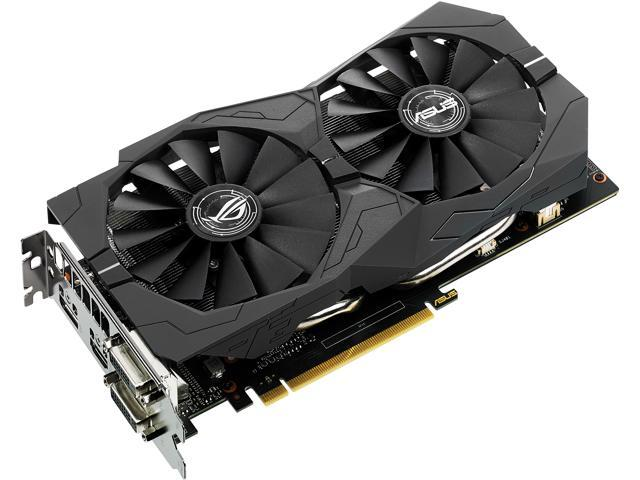ASUS ROG GeForce GTX 1050 Ti STRIX-GTX1050TI-O4G-GAMING Video Card -  Newegg com