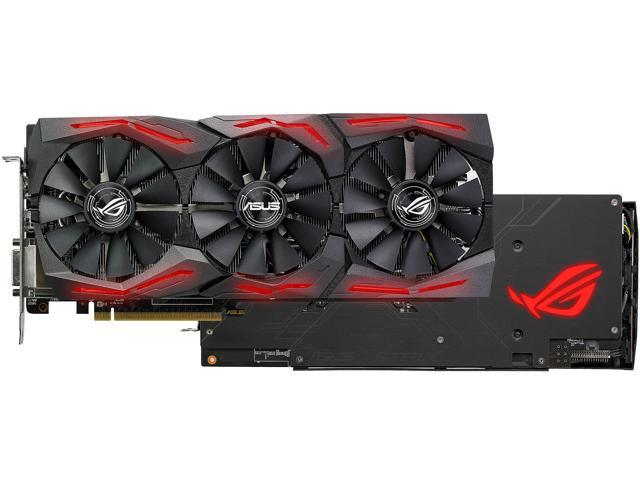 ASUS ROG Strix Radeon RX 580 O8G Gaming OC Edition GDDR5 DP HDMI DVI VR  Ready AMD Graphics Card with RGB Lighting (ROG-STRIX-RX580-O8G-GAMING) -