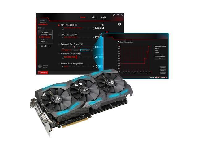 ASUS ROG Strix Radeon RX 580 O8G Gaming OC Edition GDDR5 DP HDMI DVI VR  Ready AMD Graphics Card with RGB Lighting (ROG-STRIX-RX580-O8G-GAMING) -